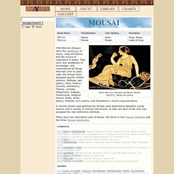 MUSES : Greek Goddesses of Music, Poetry & the Arts