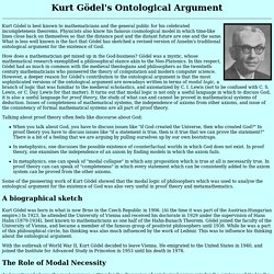 Kurt G?'s Ontological Argument