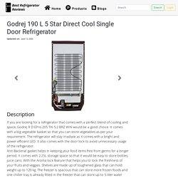 Godrej 190 L 5 Star Direct Cool Single Door Refrigerator