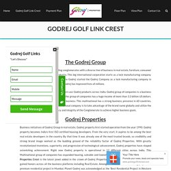 Godrej Golf Links Crest Greater Noida from Godrej Properties