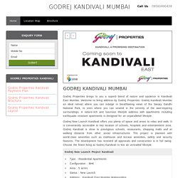 Godrej New Launch Project Kandivali