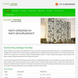 Godrej Vihaa – Pre Launch Project - Badlapur Mumbai