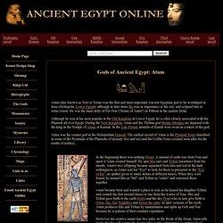 Gods of Ancient Egypt: Atum