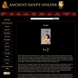 Gods of Ancient Egypt: Seshat