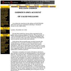 Godwin's The Adventures of Caleb Williams