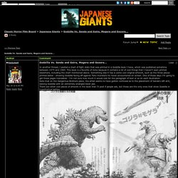 Godzilla Vs. Sanda and Gaira, Mogera and Gezora... in Japanese Giants Forum