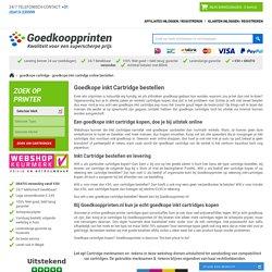 Goedkope Cartridges - Goedkoopste Cartridge Goedkoopprinten.nl Online
