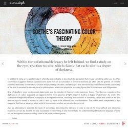 La fascinante teoría del color de Goethe