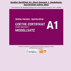 Zertifikat A1 Modellsatz