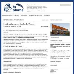 Le Goetheanum, école de l'esprit