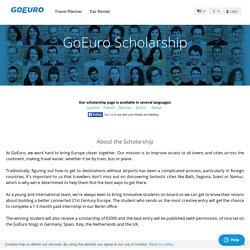 GoEuro Scholarship