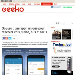 GoEuro : une appli unique pour réserver vols, trains, bus et taxis