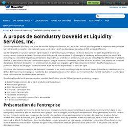 À propos de GoIndustry DoveBid et Liquidity Services, Inc.