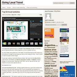 Going Local Travel » Top 50 travel websites