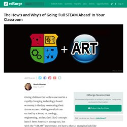 The How's and Why's of Going 'Full STEAM Ahead' In Your Classroom