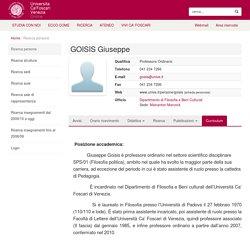GOISIS Giuseppe - Unive