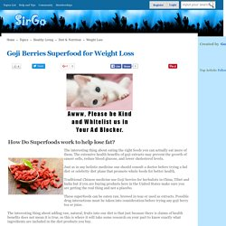 Goji Berries Superfood for Weight Loss