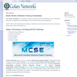 MCSE Training Hyderabad