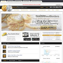 Buy and Sell Gold and Silver Online. Gold & Silver Charts, Graphs & News | GoldSilver.com