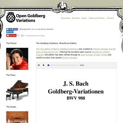 The Goldberg Variations, MuseScore Edition