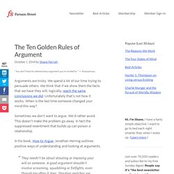 The Ten Golden Rules of Argument