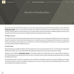 Benefits of Rooftop Bars