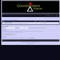 Golden Dawn Forum • Index page