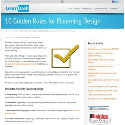 10 Golden Rules for ELearning Design