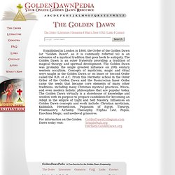 Golden Dawn Online Encyclopedia Resource
