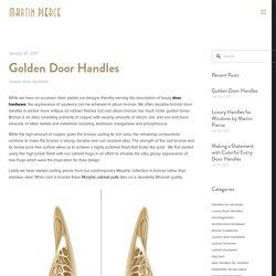 Golden Door Handles — Martin Pierce