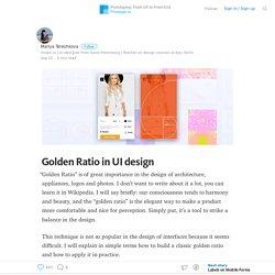 Golden Ratio in UI design