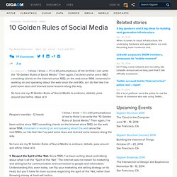 10 Golden Rules of Social Media
