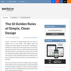 The 10 Golden Rules of Simple, Clean Design