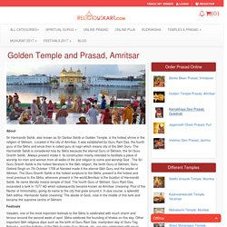 You can now order Golden Temple Prasad from Amritsar