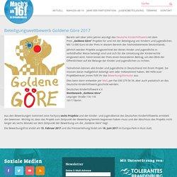 Beteiligungswettbewerb Goldene Göre 2017