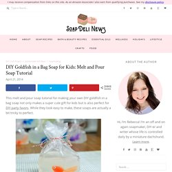 DIY Goldfish in a Bag Soap for Kids: Melt and Pour Soap Tutorial