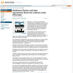 Goldman Sachs voit des occasions dans les valeurs auto d'Europe