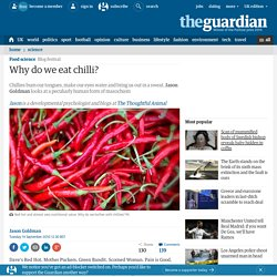 Why do we eat chilli?