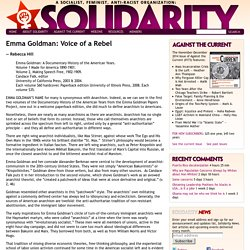 Emma Goldman: Voice of a Rebel