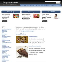 Recipe Goldmine recipes, cooking tips, food preparation, kitchen charts
