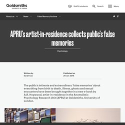 APRU's artist-in-residence collects public's false memories
