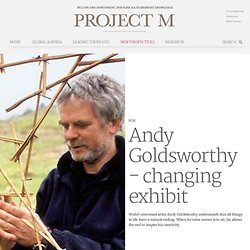 Andy Goldsworthy - changing exhibit