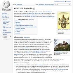 Göler von Ravensburg