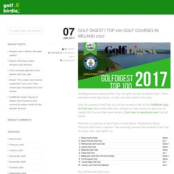 Top 100 golf courses in Ireland 2017