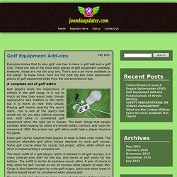 Golf Equipment Add-ons