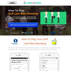 Golf Last Man Standing competition