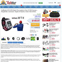 Yugster - GolfBuddy WT4 GPS Watch Pre-Loaded w/ Over 37,000 Courses – Rangefinder, Scorecard, Targets & Hazards, Green View & More