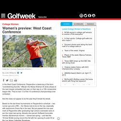 Women's college golf: West Coast Conference preview