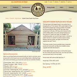 Goliath Cedar Duplex Dog House - Dog Houses - Blythe Wood Works Dog Houses, Cat Houses, and Pet Accessories