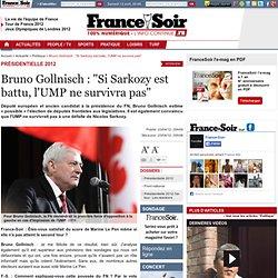 "Bruno Gollnisch : ""Si Sarkozy est battu, l'UMP ne survivra pas"""